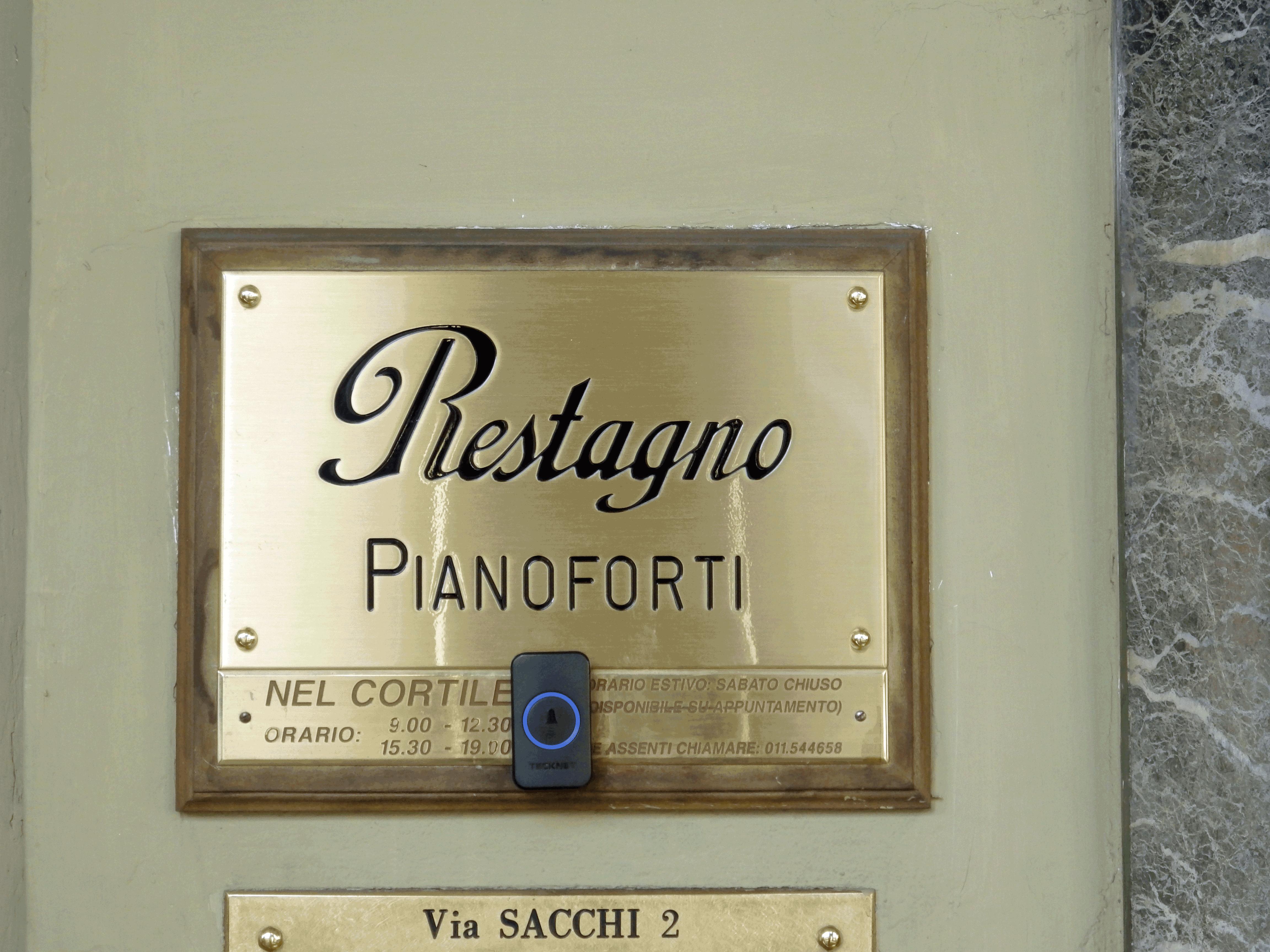 Restagno Pianoforti Via sacchi 2