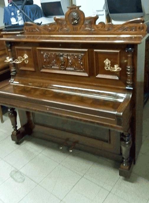 Pianoforte Alluvionato Dopo il restauro